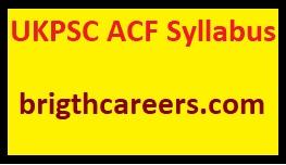 Updated Ukpsc Acf Syllabus 2019 Download Pdf Acf Exam Pattern